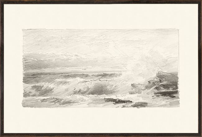 Picture of Richards - Folio, Graphite Seascape IV - 1870