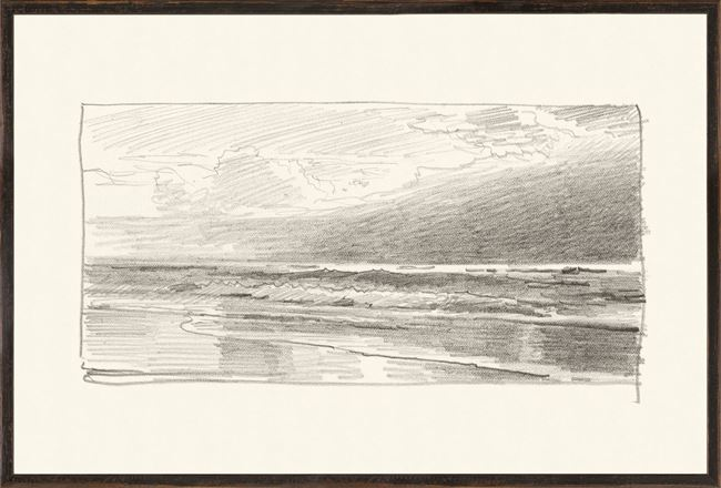 Picture of Richards - Folio, Graphite Seascape V - 1870