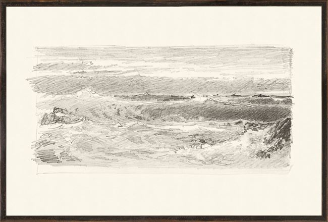 Picture of Richards - Folio, Graphite Seascape VI - 1870