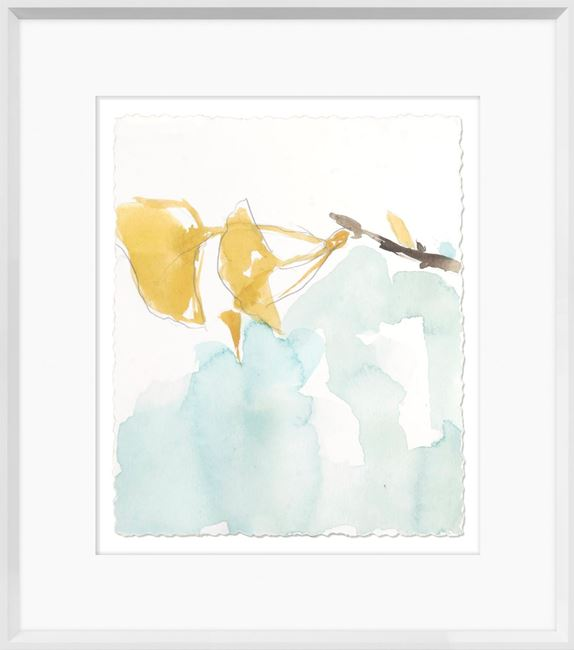 Picture of Ginkgo On Dusty Teal I