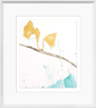 Picture of Ginkgo On Dusty Teal II