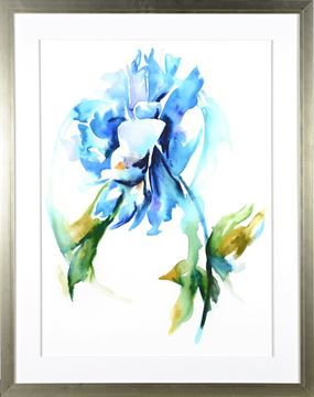 Picture of Floral Study In Blue II