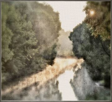 Picture of Early  Morning Mist  - Framed Canvas