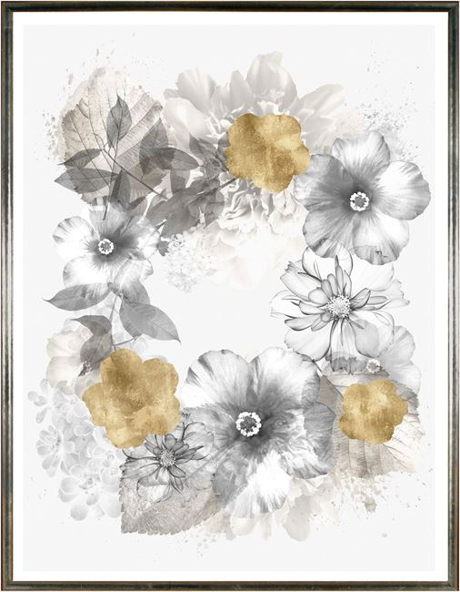 Picture of Floral Wreath Overlay I Lrg