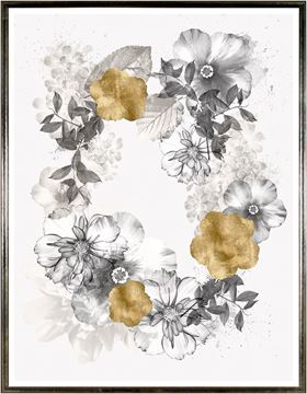 Picture of Floral Wreath Overlay II Lrg
