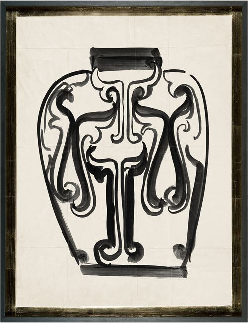 Picture of Cachet Vase IV - Black - Lrg