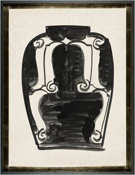 Picture of Cachet Vase VI - Black - Lrg