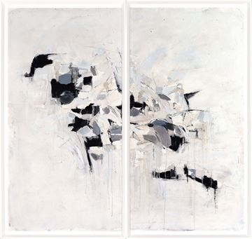 Picture of Neutral Patchwork Diptych