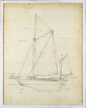 Picture of Sailboat Blueprint V