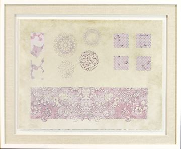 Picture of Vintage Sampler In Rose II