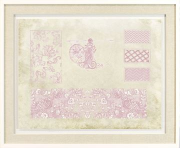 Picture of Vintage Sampler In Rose V