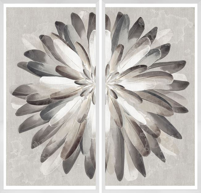 Picture of Neutral Plumage Diptych