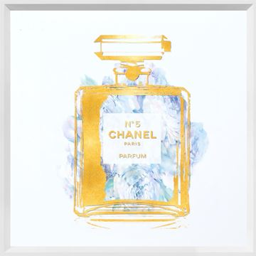 Picture of Perfume with Aqua Flowers