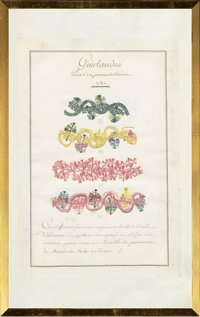 Picture of French Fabric Samplers VII, 1735