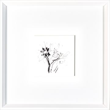 Picture of Etched Floral  - White