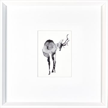 Picture of Watercolor Deer  - White