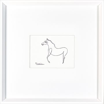 Picture of Picasso - Horse  - White