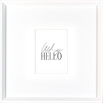 Picture of Why Hello - Mini  - White
