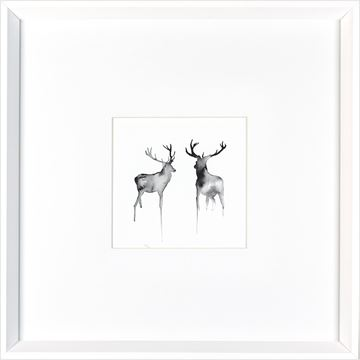 Picture of Two Stag  - White