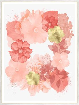 Picture of Coral Floral Overlay I