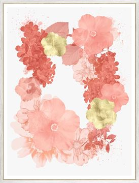 Picture of Coral Floral Overlay II
