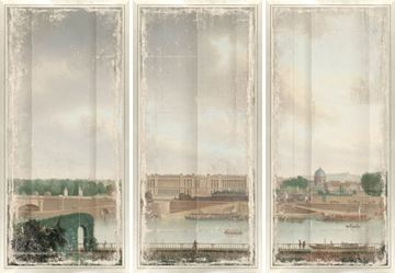 Picture of View From The Batavian Embassy Paris, 1801 - Triptych - Med
