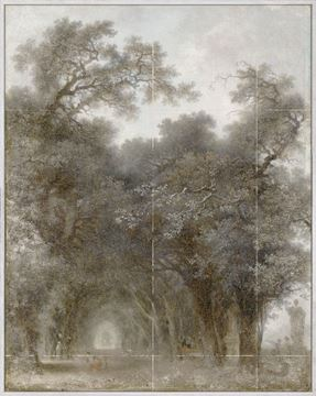 Picture of Fragonard - A Shaded Avenue - Mid Framed Canvas