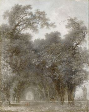 Picture of Fragonard - A Shaded Avenue - Mid Gallery Wrap Canvas