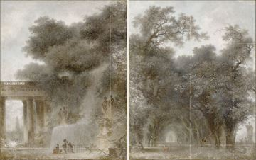 Picture of Fragonard - Diptych - Gallery Wrap Canvas