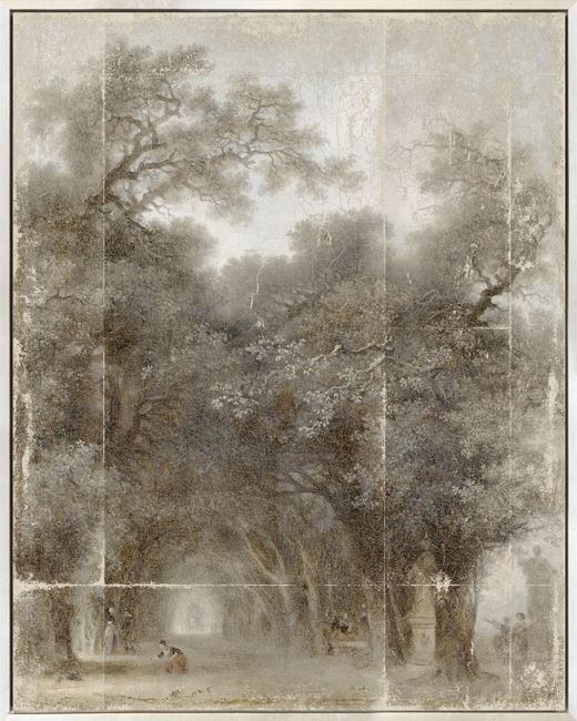 Picture of Fragonard - A Shaded Avenue - Mid Framed Canvas (B)