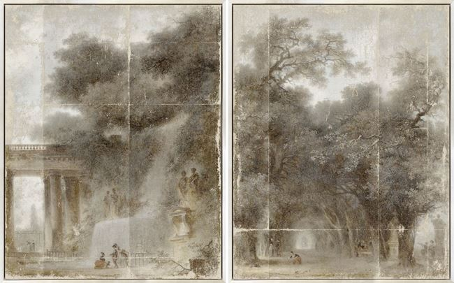Picture of Fragonard - Diptych - Framed Canvas (B)