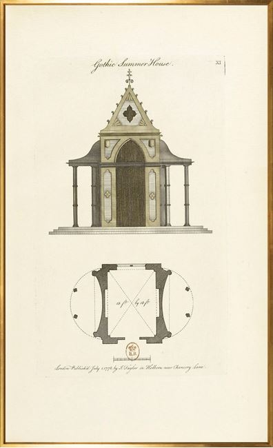 Picture of Engraving - Gothic Summer House, 1778 - Large
