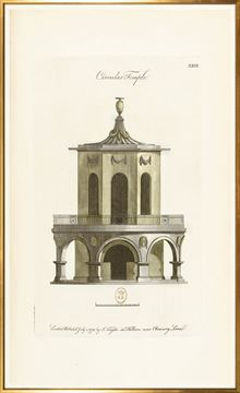 Picture of Engraving - Circular Temple, 1778 - Large