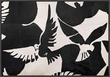 Picture of Braque Inspired - Oiseau - Framed Canvas
