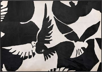 Picture of Acrylic - Braque Inspired - Oiseau