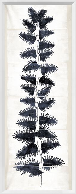 Picture of Tall Frond II - Cream and Indigo