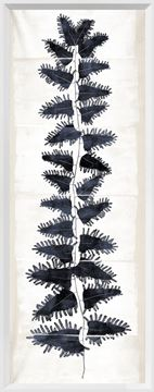 Picture of Tall Frond II - Cream and Indigo - Large