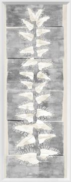 Picture of Tall Frond II - Grey and Cream - Large