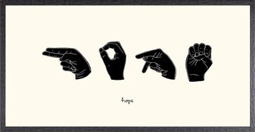 Picture of Sign Language II - Hope