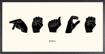 Picture of Sign Language V - Peace