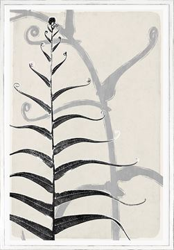 Picture of Botanical Overlay - Cream VI Large