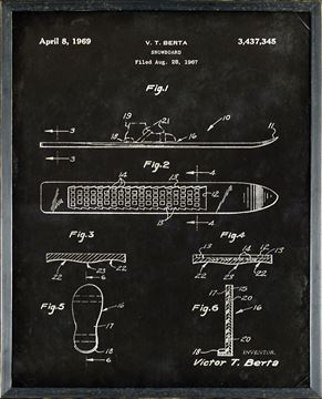 Picture of Patent - Snowboard Aug. 28, 1967 Small