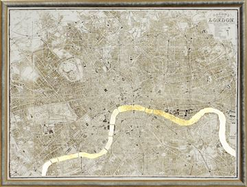 Picture of Map - London Gilded