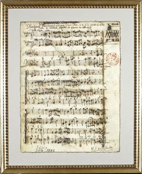 Picture of Latin Sheet Music - Title