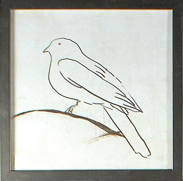Picture of Bird Line I  - Framed on Board