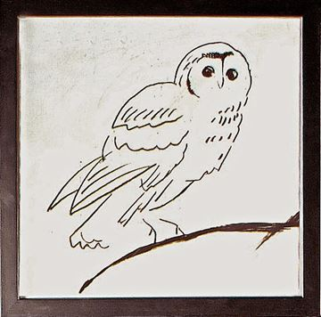 Picture of Owl Line II  - Framed on Board
