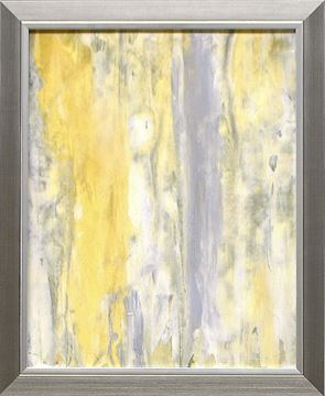 Picture of Abstract Series Yellow Grey I - Framed on Board