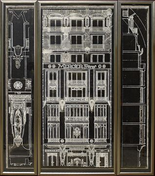 Picture of Mercier Freres Triptych - Taupe