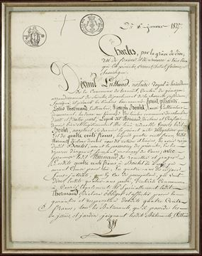 Picture of 1825 French Document
