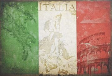 Picture of Flag-Italy Silhouette Lge  - Gallery Wrap Canvas